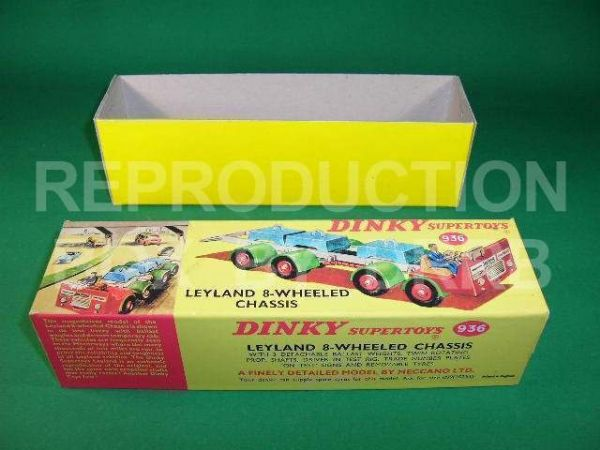 Dinky #936 Leyland 8-wheel Test Chassis - Reproduction Box